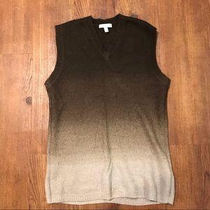 ADAM by Adam Lippes Sleeveless Cardigan Knit Vest